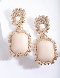 Rose Gold Textured Enamel Drop Earring - link has visual effect only