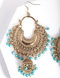 Antique Gold Turquoise Bead Drop Earring - link has visual effect only