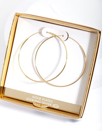 Gold Plated 50mm Hoop Earring - link has visual effect only
