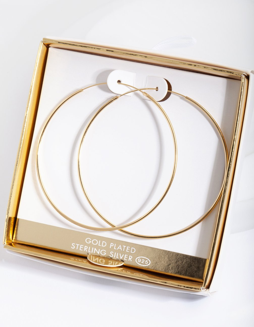 Gold Plated 60mm Hoop Earring