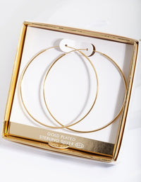 Gold Plated 60mm Hoop Earring - link has visual effect only