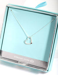 Sterling Silver Open Heart Necklace - link has visual effect only