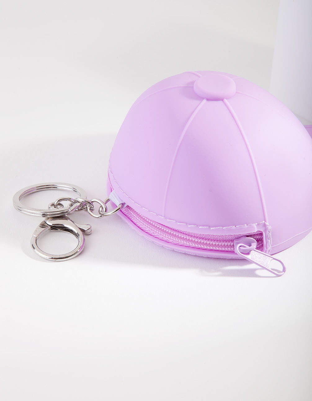 Kids Purple Cap Purse Keyring