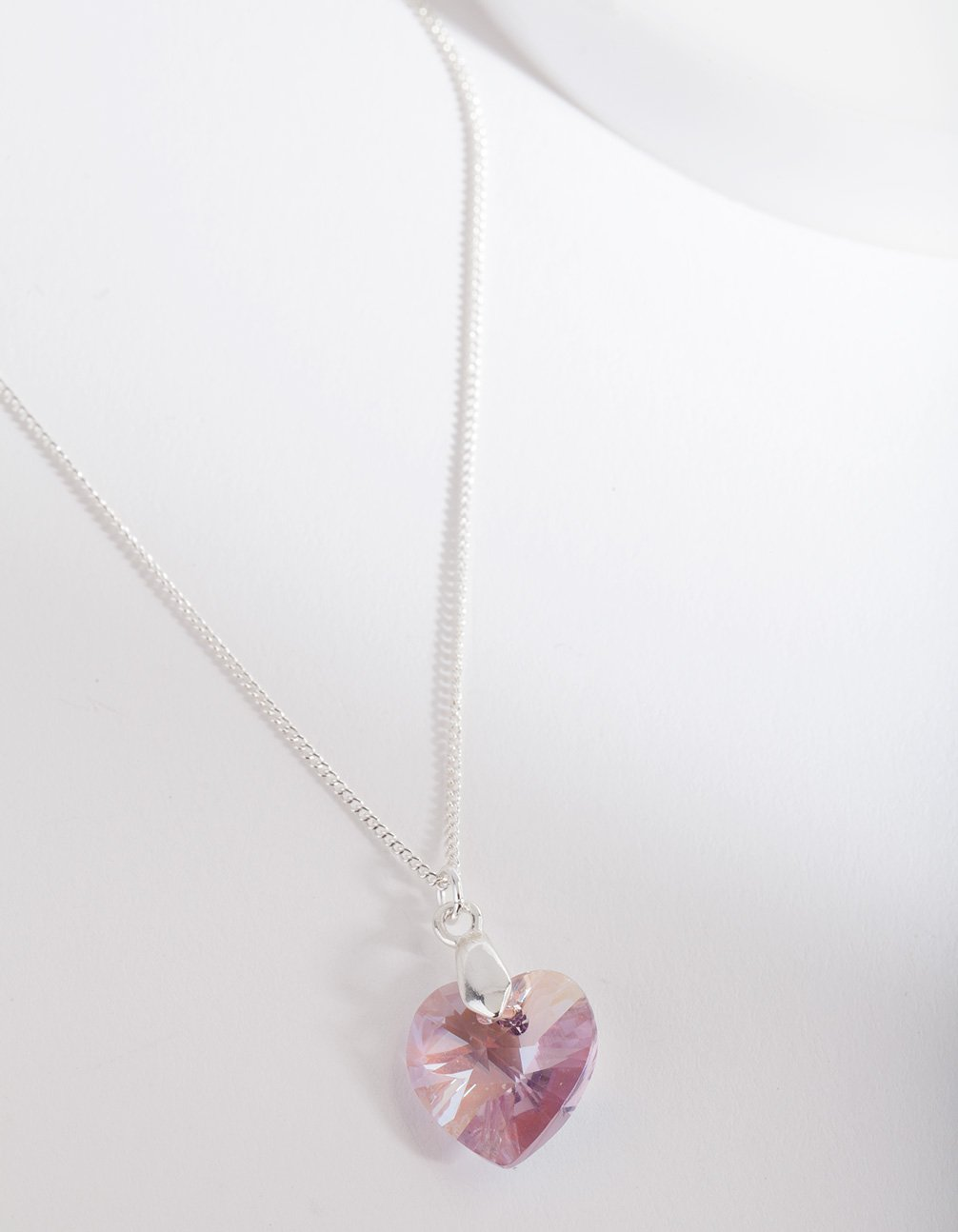 Swarovski Purple Heart Long Necklace