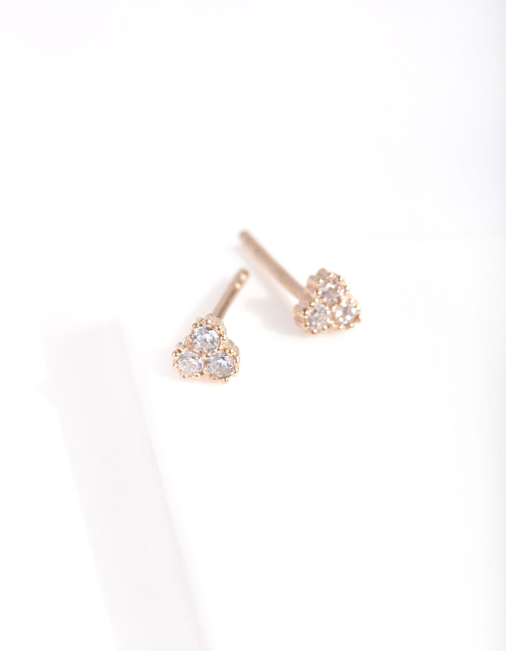 Rose Gold Plated Diamante Cluster Stud Earring