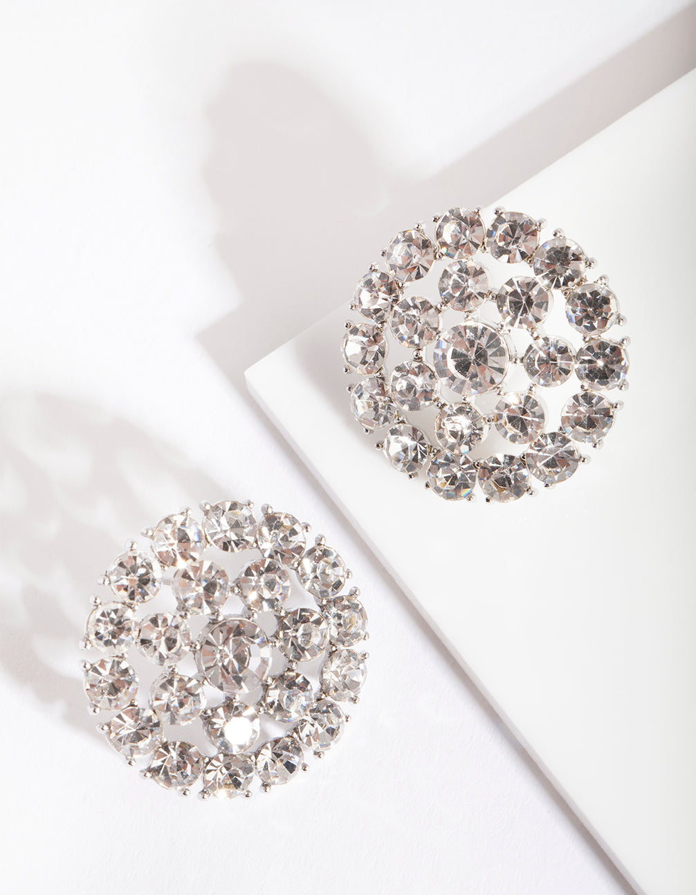 Rhodium Big Bling Earrings