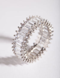Cubic Zirconia Baguette Ring - link has visual effect only