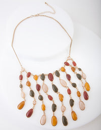 Gold Cascading Stone Necklace - link has visual effect only