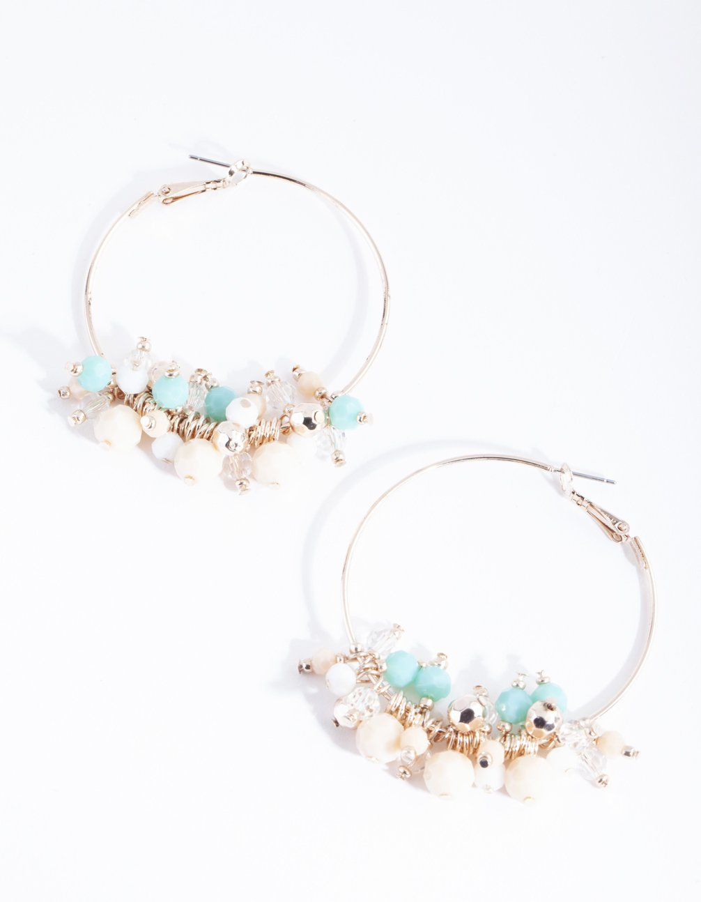 Rose Gold Beaded Hoop Earring