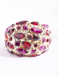 Pink Gem Crated Bubble Ring - link has visual effect only