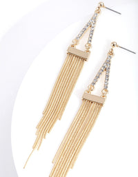 Gold Diamante Point and Tassel Earring - link has visual effect only