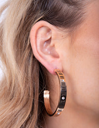 Gold Roman Numeral Hoop Earring - link has visual effect only