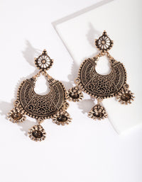 Antique Gold Bohemian Drop Earring - link has visual effect only