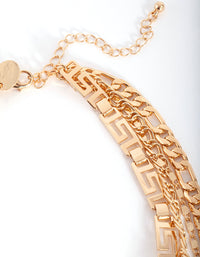 Gold Layered Geometric Chain Choker Necklace - link has visual effect only