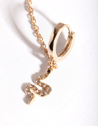 Gold Diamante Snake Ear Cuff & Huggie - link has visual effect only