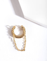 Gold Chain Drop Ear Cuff - link has visual effect only