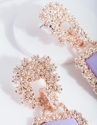 Lilac Trapeze Dome Drop Earring - link has visual effect only