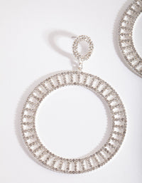 Silver Diamante Cutout Disc Earring - link has visual effect only