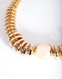 Gold Graduating Disc & Ball Necklace - link has visual effect only