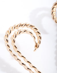 Gold Ribbed Snake Earring - link has visual effect only