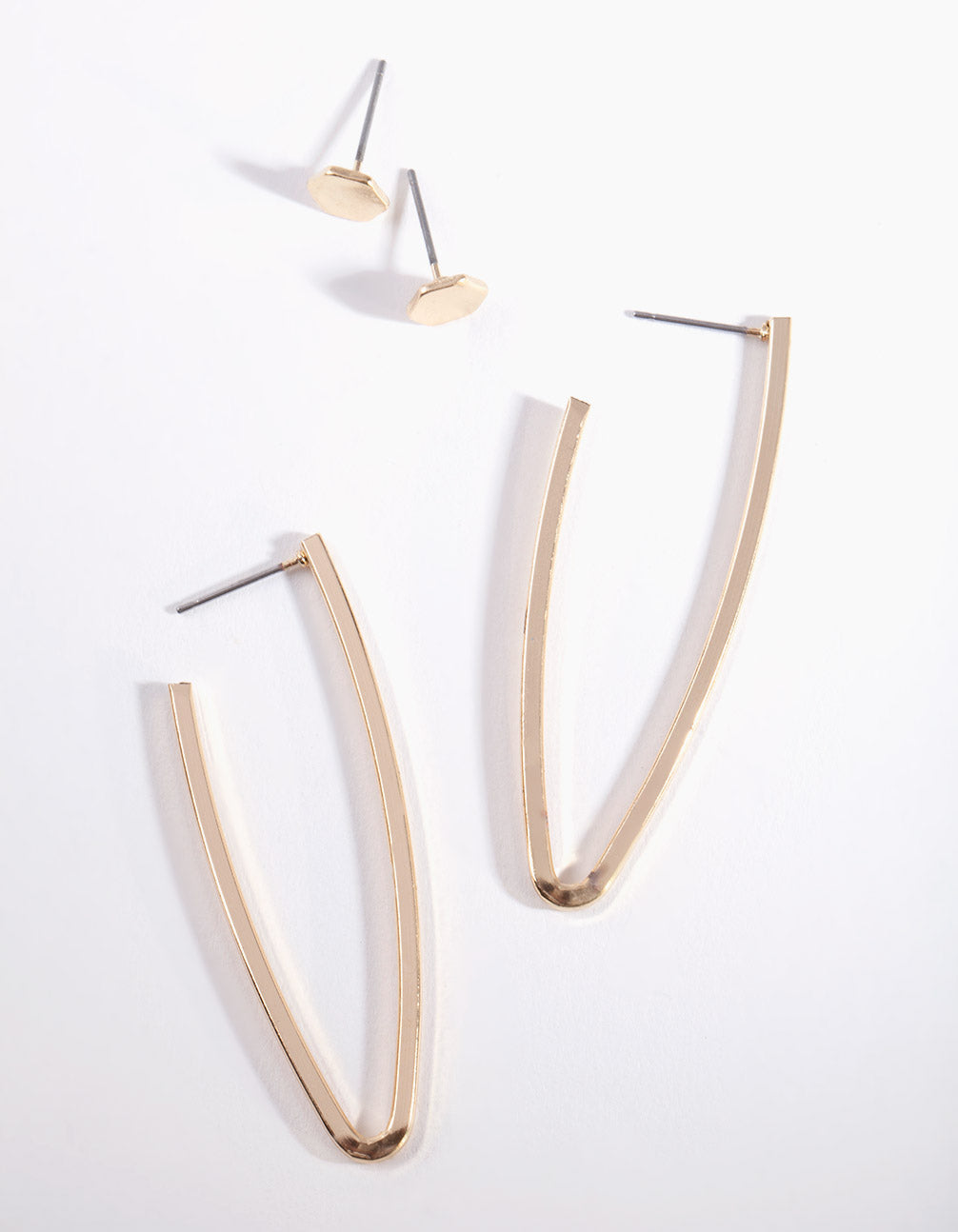 Gold Minimal Hoop Earring 2 Pack