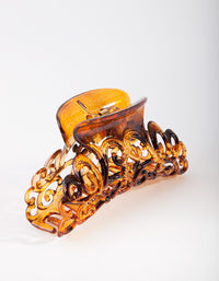 Tortoiseshell Swirl Claw Clip - link has visual effect only