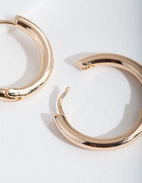 Gold Polished Hoop Earrings - link has visual effect only