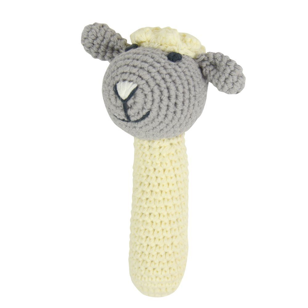 Crochet Rattle Little Lamb