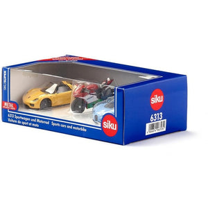 Siku 3 piece Sports Car and Bike Set