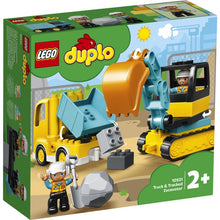 Load image into Gallery viewer, Lego Duplo Truck & Tracked Excavator 10931