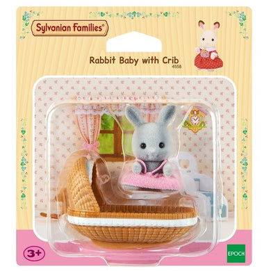 Rabbit Baby with Crib