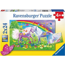Load image into Gallery viewer, Rainbow Horses Pzl 2x24pc