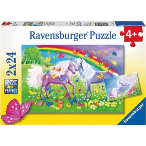 Rainbow Horses Pzl 2x24pc