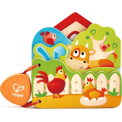 Hape Babys Farm Animal Book