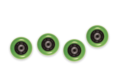WB Mini Flip Wheels Green