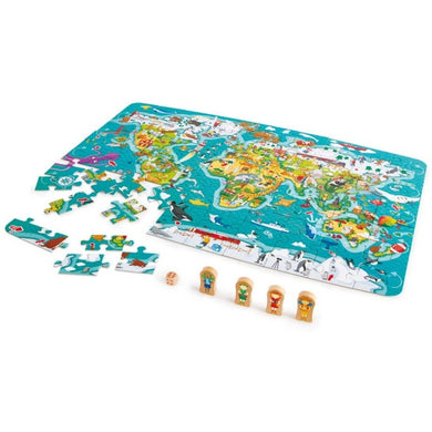 Hape 2in1 World Map Puzzle