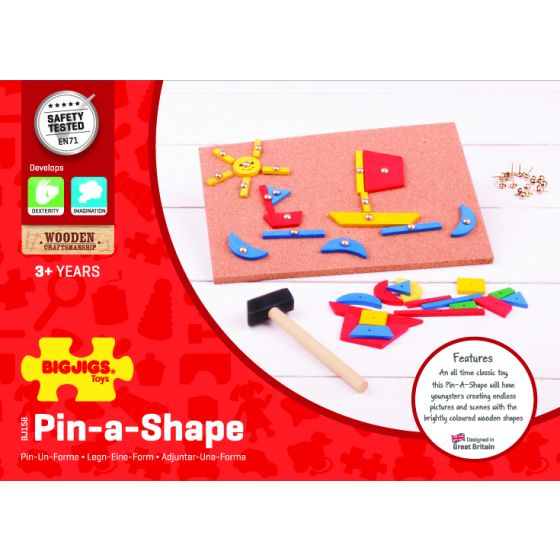 Bigjigs Pin A Shape