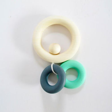 Combination Teething Ring Pastel