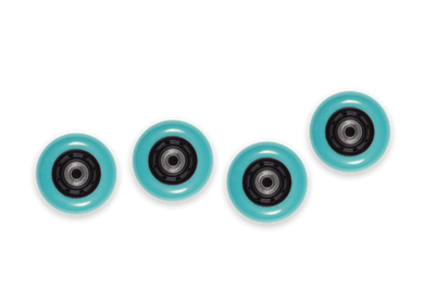WB Mini Flip Wheels Aqua
