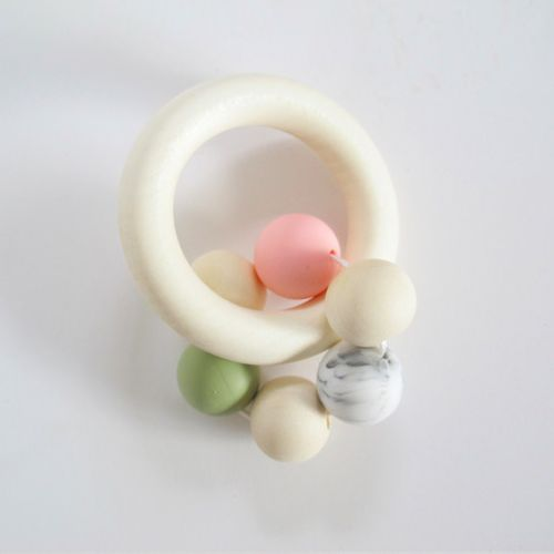 Five Bead Pastel Teether