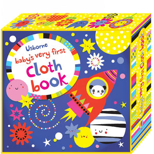 Babys First Cloth Book Purple