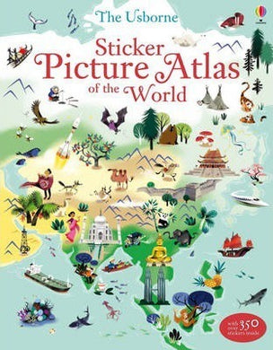 Usborne Sticker Picture Atlas Bk
