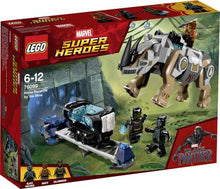 Load image into Gallery viewer, Lego Super Heros Rhino Faceoff 76099