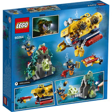 Load image into Gallery viewer, Lego City Ocean Submarine 60264