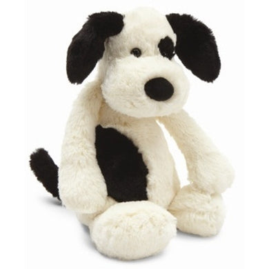Bashful Black & Cream Puppy Med