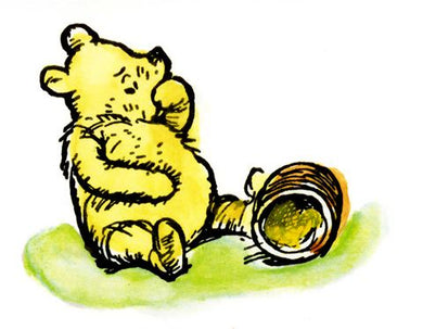 Pooh with Honey Jar Card
