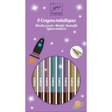 Djeco Metallic Pencils 8pc
