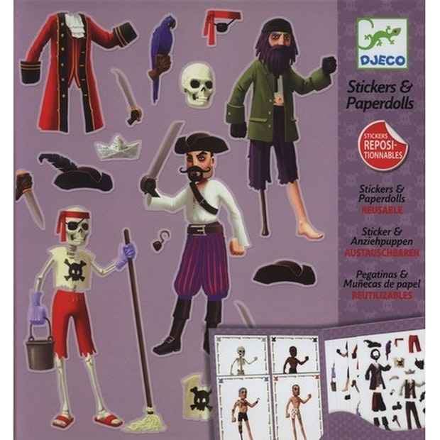 Djeco - Paper Dolls - Pirates