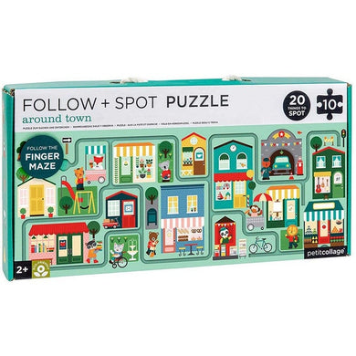 PC Around Town Follow & Spot Puzzle