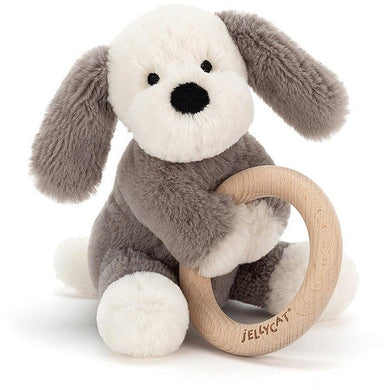 Jellycat Shooshu Wooden Ring Puppy